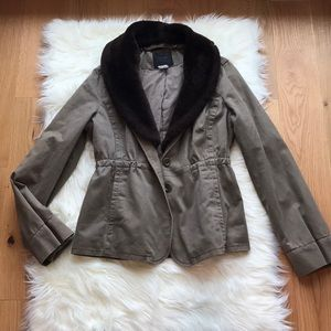 J.Crew Collection Shearling Fatigue Jacket